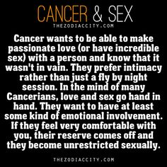 Cancer and sex