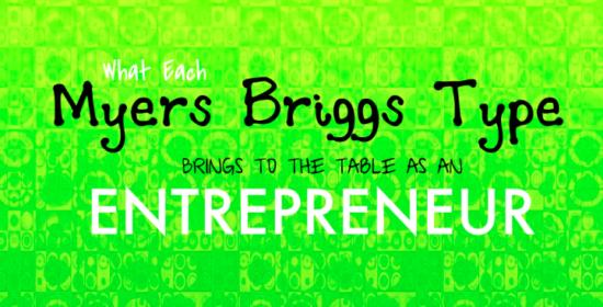Myers Briggs Entrepreneur
