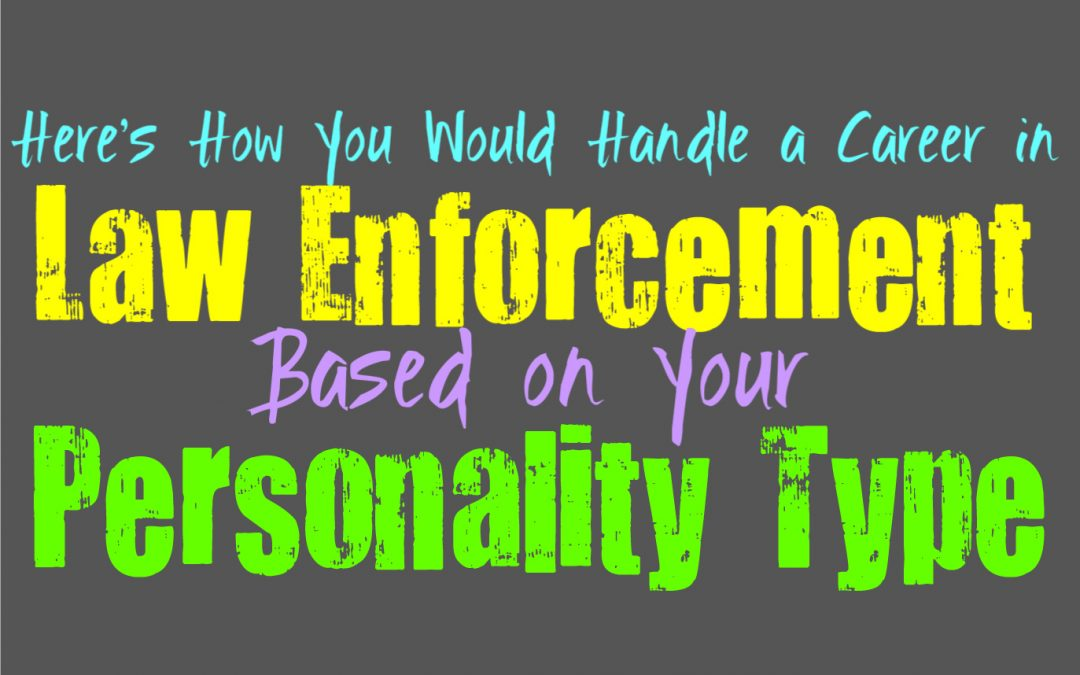 Here's How You Would Handle a Career in Law Enforcement, Based on Your Personality Type