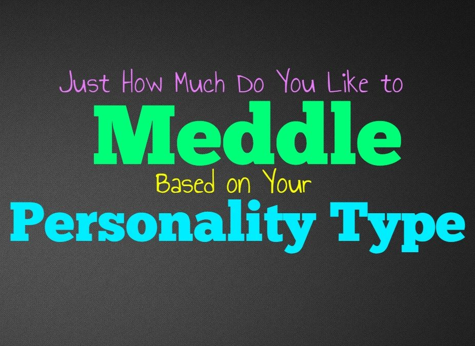 Just How Much Do You Like to Meddle, Based on Your Personality Type