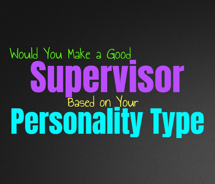 Would You Make a Good Supervisor, Based on Your Personality Type