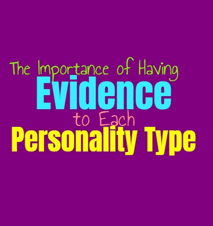 The Importance of Having Evidence to Each Personality Type