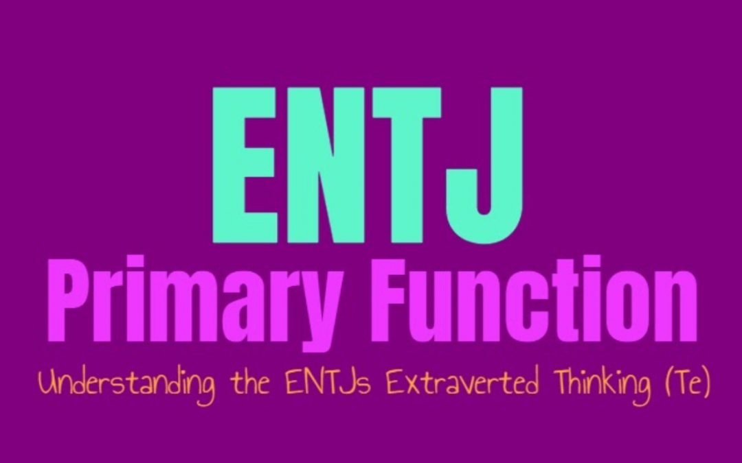 ENTJ Primary Function: Understanding the ENTJs Extraverted Thinking (Te)